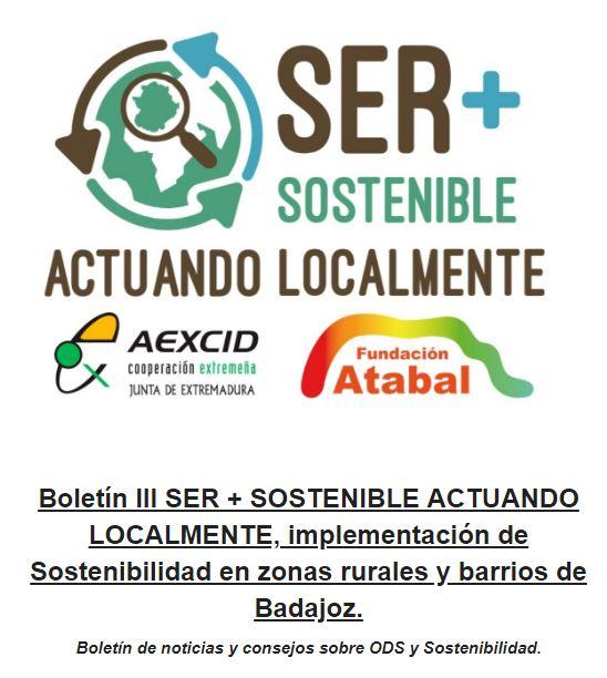 III Boletín Ser+Sostenible actuando localmente.