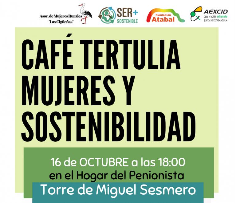 Cafe Tertulia Mujeres y sostenibilidad